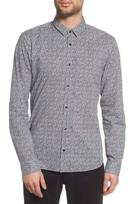 HUGO Ero Allover Print Slim Fit Sport Shirt