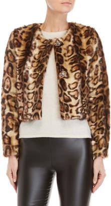Gaudi' Gaudi Faux Leopard Fur Jacket