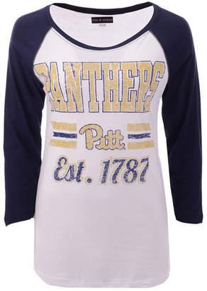 5th & Ocean Women's Pittsburgh Panthers Team Stripe Raglan T-Shirt