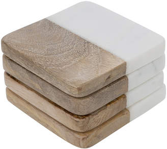 A By Amara A by Amara - Marble & Wooden Coasters - Set of 4