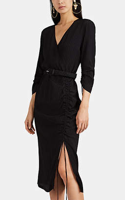 Altuzarra Women's Oriana Puckered Wrap Dress - Black