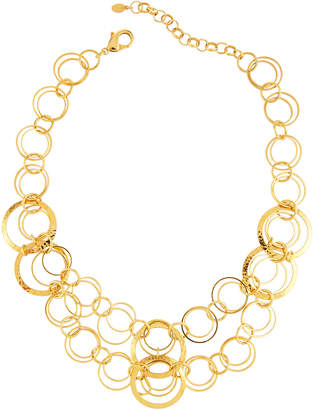 Jose & Maria Barrera Hammered & Polished Link Necklace