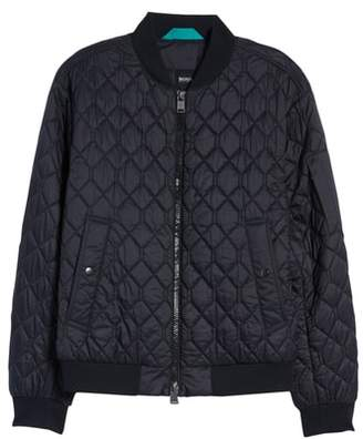 BOSS Coby Regular Fit Quilted Bomber Jacket