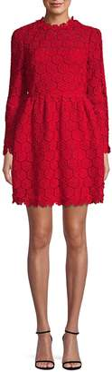 Valentino Embroidered Cotton Blend A-Line Dress