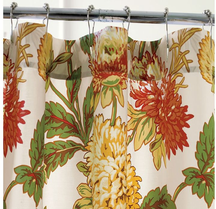 Mum Floral Organic Shower Curtain