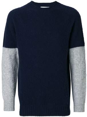 YMC contrast sleeve sweater
