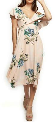 Dex Asymmetric Wrap Dress