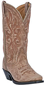 Laredo Leather Cowboy Boots with Crackle Finish - Maricopa
