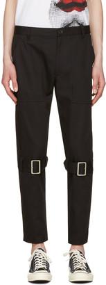 Comme des Garçons Shirt Black Belted Leg Trousers $625 thestylecure.com