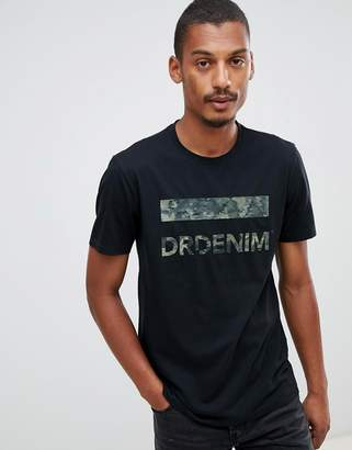 Dr. Denim Patrick t-shirt in black with logo
