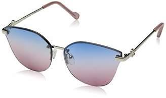 0adc1263a02 Jessica Simpson Women s J5710 Slvrs Non-Polarized Iridium Cateye Sunglasses