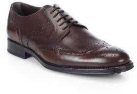 Tod's Leather Wingtip Derby Shoes