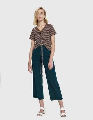 Which We Want Jilli Stripe Shirred Tee