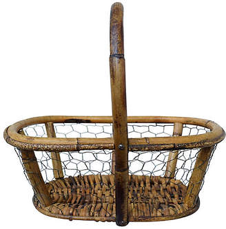 One Kings Lane Vintage Antique French Egg Basket - Cannery Row Home