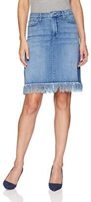 NYDJ Women's 5 Pocket Skirt with Fray