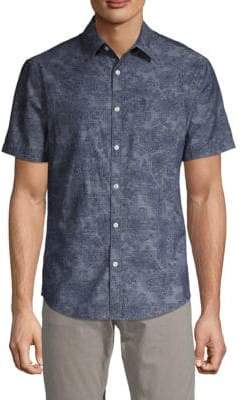 Original Penguin Slim-Fit Floral Chambray Button-Down Shirt