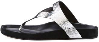 Isabel Marant Elbry Metallic Leather Thong Sandal