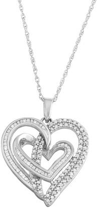 Sterling Silver 1/2 Carat T.W. Diamond Intertwined Heart Pendant
