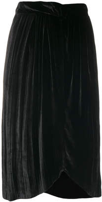 Masscob crimped velvet skirt