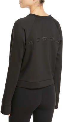 Koral Activewear Crown Crewneck Thumbhole Pullover Sweatshirt