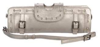 Versace Metallic Suede Wristlet