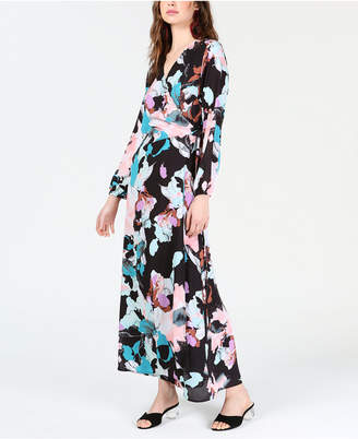 8ec69b1d63 Bar III Floral Wrap Maxi Dress