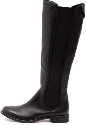 Django & Juliette Judy Black Boots Womens Shoes Casual Long Boots