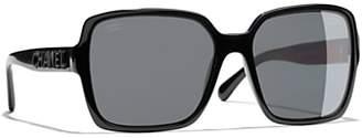 Chanel Rectangular Sunglasses CH5408 Black/Grey