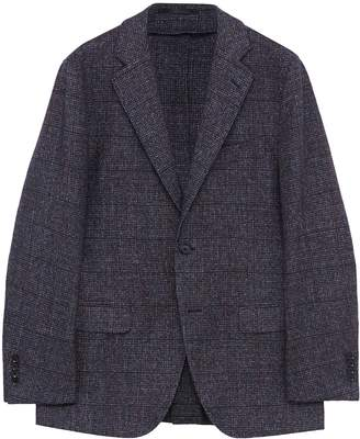 TOMORROWLAND Windowpane check brushed wool blend soft blazer