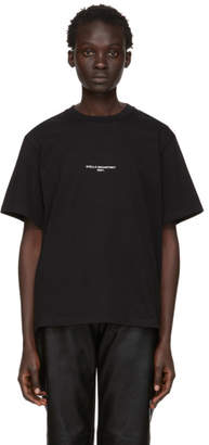 Stella McCartney Black Small Print Logo T-Shirt
