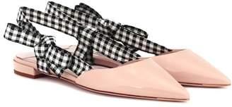 Miu Miu Patent leather slingback slippers