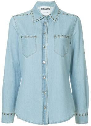 Moschino studded denim shirt