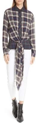 Rag & Bone Felicity Tie Hem Shirt