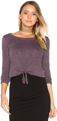 Chaser Tie Front Long Sleeve Tee $59 thestylecure.com