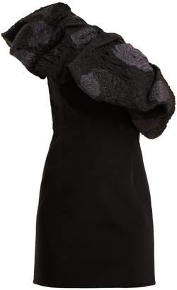 Emilio De La Morena One-shoulder floral-brocade dress