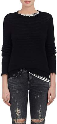 R 13 Women's Distressed Cashmere Crewneck Sweater