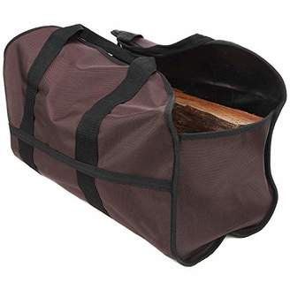 SC Lifestyle Premium Firewood Log Carrier - Wood Tote (Dark Brown)