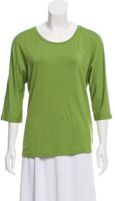 Max Mara Three-Quarter Sleeve Scoop Neck Top