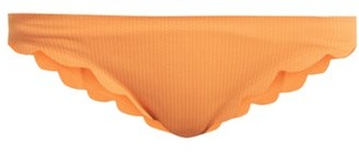Marysia Swim Broadway Scallop Edged Bikini Briefs - Womens - Orange