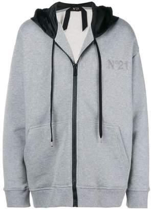 No.21 colorblocked hood hoodie