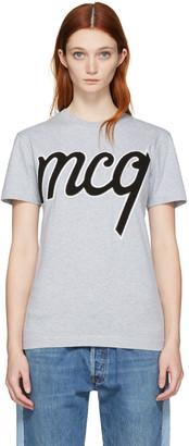 McQ Alexander McQueen Grey Logo Classic T-Shirt $220 thestylecure.com
