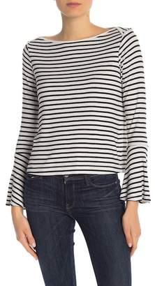 Splendid Striped Boatneck Bell Sleeve Shirt