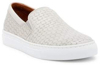 Aquatalia Ashlynn Embossed Leather Slip-On Sneaker