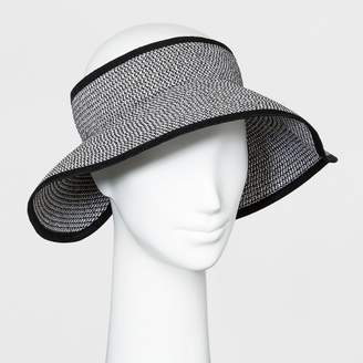 A New Day Women's Tweed Roll Up Visor Black