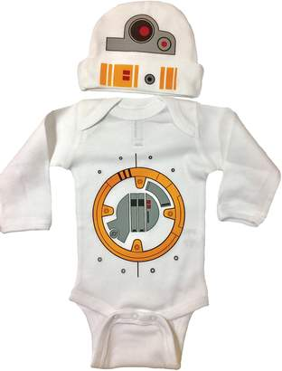 Star Wars Vestys Baby Boy BB8 Bodysuit Long Sleeve Set Bodysuit and Hat (12M)
