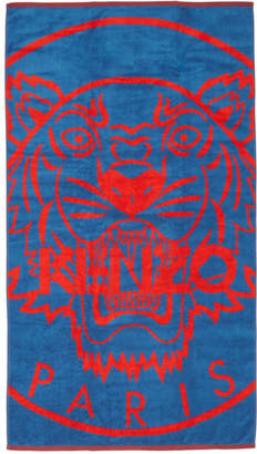 Kenzo Blue and Red Tiger Beach Towel