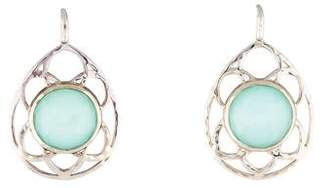 Ippolita Mother of Pearl & Quartz Cutout Lattice Teardrop Earrings