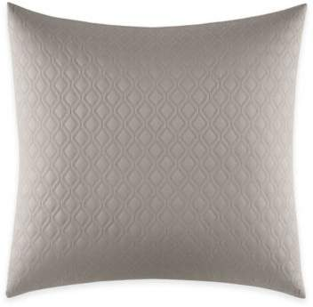 Home Bamboo Leaves European Pillow Sham in White