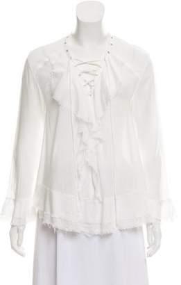 IRO Lace-Up Long Sleeve Top