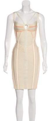 Herve Leger Printed Bandage Dress w/ Tags